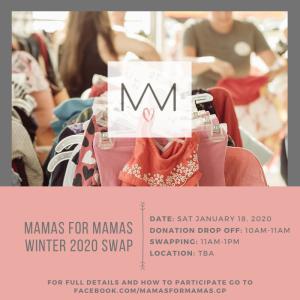 Mamas for Mamas Winter 2020 Swap - Grande Prairie @ Hillside Community School